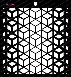 Craft Stencils - Geo Angles 6x6 - Mudra