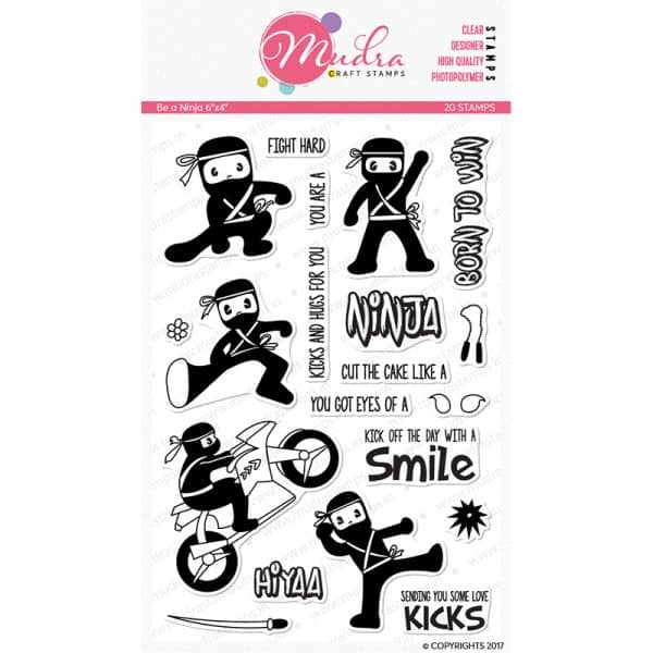 be a ninja design photopolymer stamp for crafts, arts and DIY by Mudra