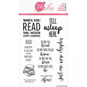 bookmark design photopolymer stamp for crafts, arts and DIY by Mudra
