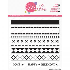 build a ribbon design photopolymer stamp for crafts, arts and DIY by Mudra
