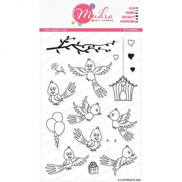 cutie tweety design photopolymer stamp for crafts, arts and DIY by Mudra