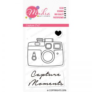 Capture design photopolymer stamp for crafts, arts and DIY by Mudra