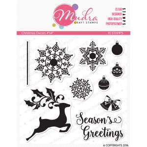 christmas decors design photopolymer stamp for crafts, arts and DIY by Mudra