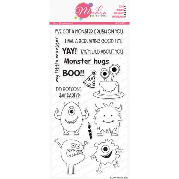 crazy monsters design photopolymer stamp for crafts, arts and DIY by Mudra