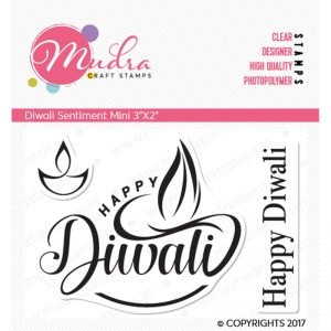 Diwali sentiment mini design photopolymer stamp for crafts, arts and DIY by Mudra