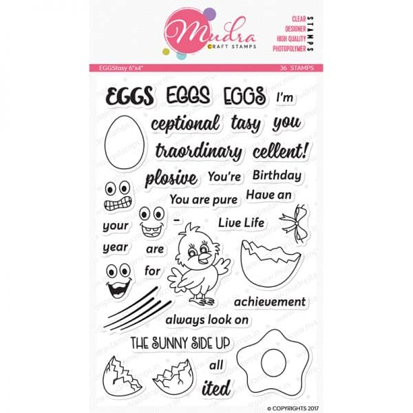 eggstasy design photopolymer stamp for crafts, arts and DIY by Mudra