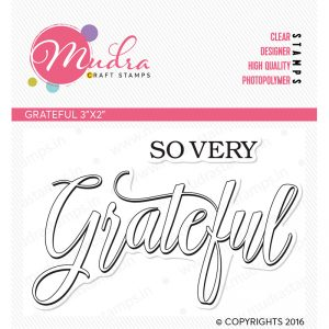 grateful mini design photopolymer stamp for crafts, arts and DIY by Mudra