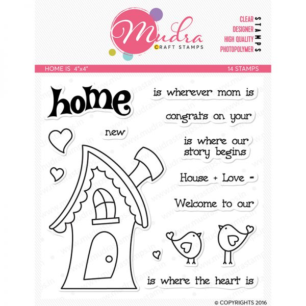 home design photopolymer stamp for crafts, arts and DIY by Mudra