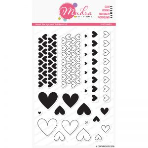 heart background builder design photopolymer stamp for crafts, arts and DIY by Mudra