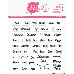 card design photopolymer stamp for crafts, arts and DIY by Mudra