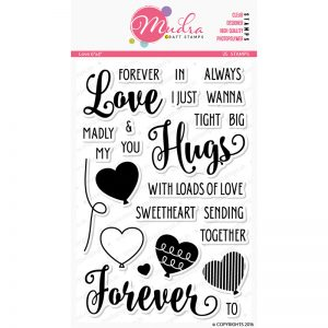 love design photopolymer stamp for crafts, arts and DIY by Mudra