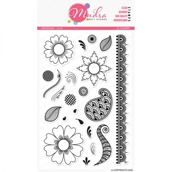 mendhika design photopolymer stamp for crafts, arts and DIY by Mudra