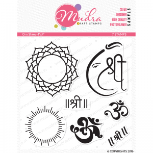 om shree design photopolymer stamp for crafts, arts and DIY by Mudra