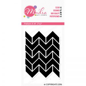 pattern it #1 design photopolymer stamp for crafts, arts and DIY by Mudra