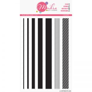 play with lines design photopolymer stamp for crafts, arts and DIY by Mudra
