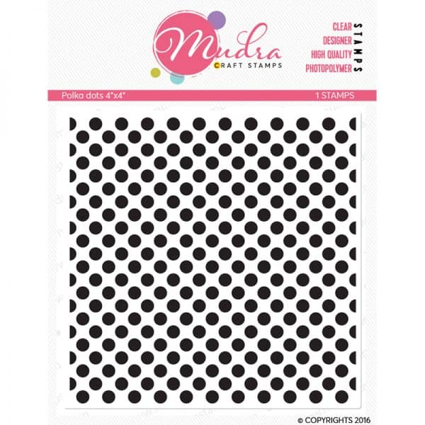 polka dots design photopolymer stamp for crafts, arts and DIY by Mudra