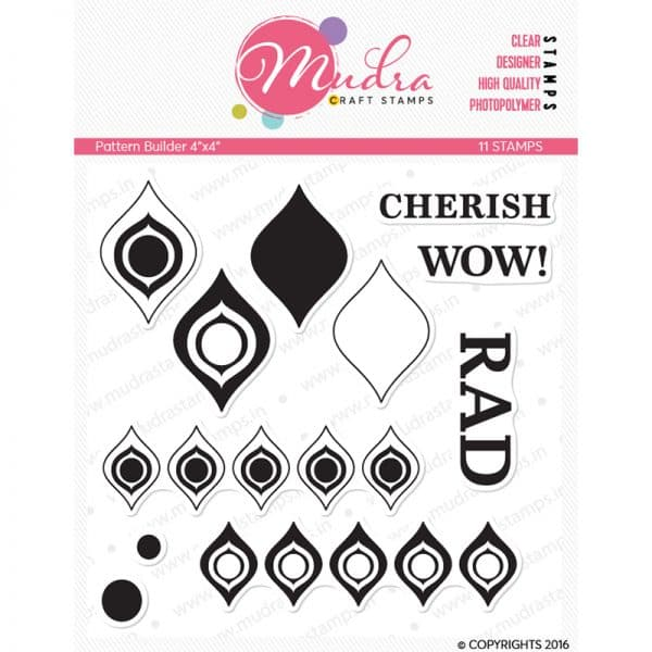 pattern builder design photopolymer stamp for crafts, arts and DIY by Mudra