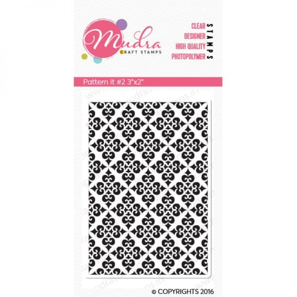 pattern it #2 design photopolymer stamp for crafts, arts and DIY by Mudra