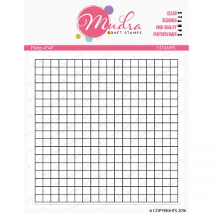 pixels design photopolymer stamp for crafts, arts and DIY by Mudra