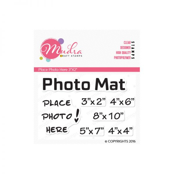 place photo here design photopolymer stamp for crafts, arts and DIY by Mudra