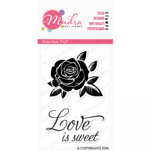 rose love design photopolymer stamp for crafts, arts and DIY by Mudra