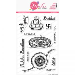 rakshabandan II design photopolymer stamp for crafts, arts and DIY by Mudra