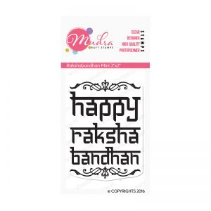 rakshabandhan mini design photopolymer stamp for crafts, arts and DIY by Mudra