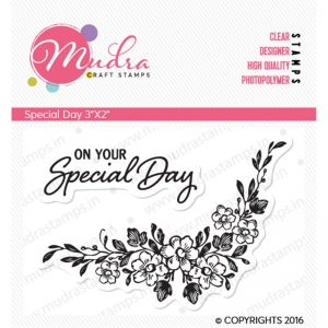 special day design photopolymer stamp for crafts, arts and DIY by Mudra