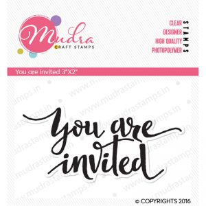 you are invited design photopolymer stamp for crafts, arts and DIY by Mudra