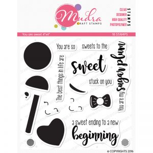 you are sweet design photopolymer stamp for crafts, arts and DIY by Mudra