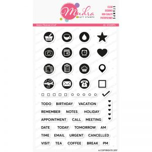 basic planner design photopolymer stamp for crafts, arts and DIY by Mudra