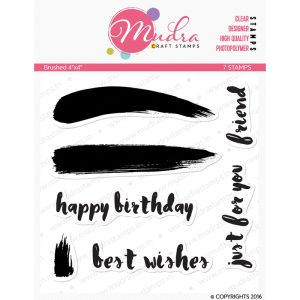 brushed design photopolymer stamp for crafts, arts and DIY by Mudra