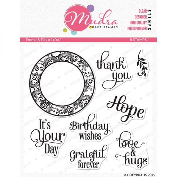 frames & fills design photopolymer stamp for crafts, arts and DIY by Mudra