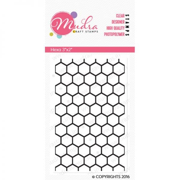 hexa design photopolymer stamp for crafts, arts and DIY by Mudra