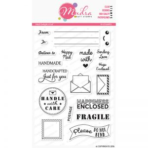 mail delight design photopolymer stamp for crafts, arts and DIY by Mudra