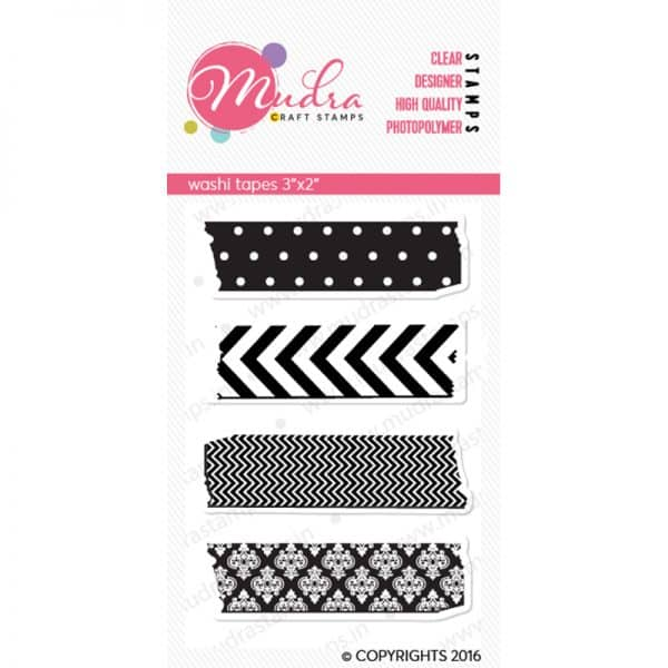 washi tapes design photopolymer stamp for crafts, arts and DIY by Mudra