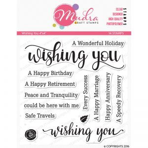 wishing you design photopolymer stamp for crafts, arts and DIY by Mudra