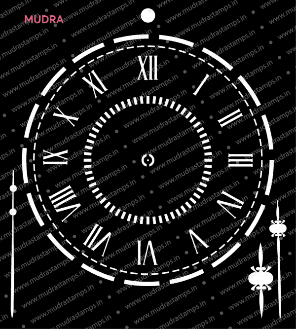 Craft Stencils - Clock 6x6 - Mudra