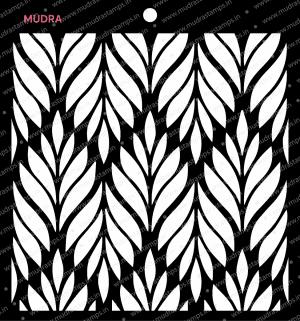 Craft Stencils - Leafy Pattern 6x6 - Mudra