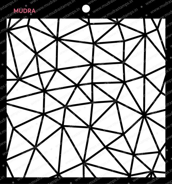 Craft Stencils - Polygons 6x6 - Mudra