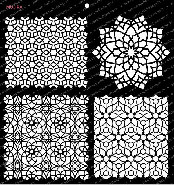 Craft Stencils - Arabic 12x12 - Mudra