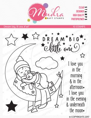 dream big lil one design photopolymer stamp for crafts, arts and DIY by Mudra