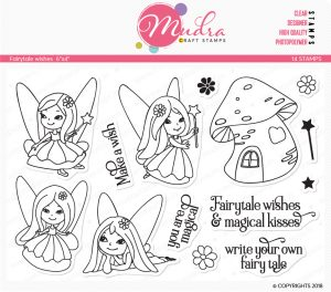 fairytale wishes design photopolymer stamp for crafts, arts and DIY by Mudra