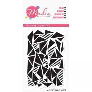 geometric stories design photopolymer stamp for crafts, arts and DIY by Mudra
