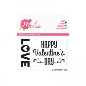 valentines day mini design photopolymer stamp for crafts, arts and DIY by Mudra