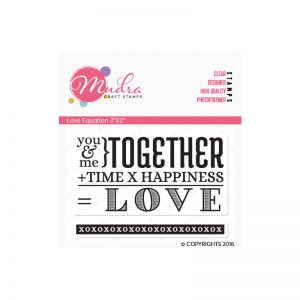 Love equation design photopolymer stamp for crafts, arts and DIY by Mudra