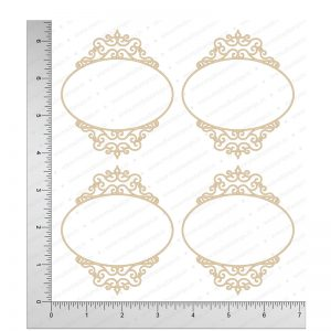 Chipzeb - Elegant Frames - designer chipboard laser cut embellishment by Mudra
