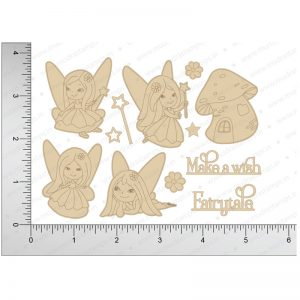 Chipzeb - Fairytales - designer chipboard laser cut embellishment by Mudra