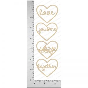 Chipzeb - Love Designer - designer chipboard laser cut embellishment by Mudra