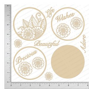 Chipzeb - Floral Frames - designer chipboard laser cut embellishment by Mudra